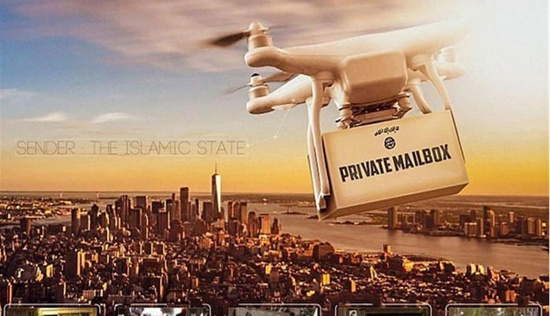 Daesh Uses A Poster Featuring A Drone over New York